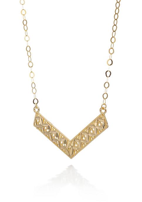 Belk & Co. 10K Yellow Gold Chevron Necklace
