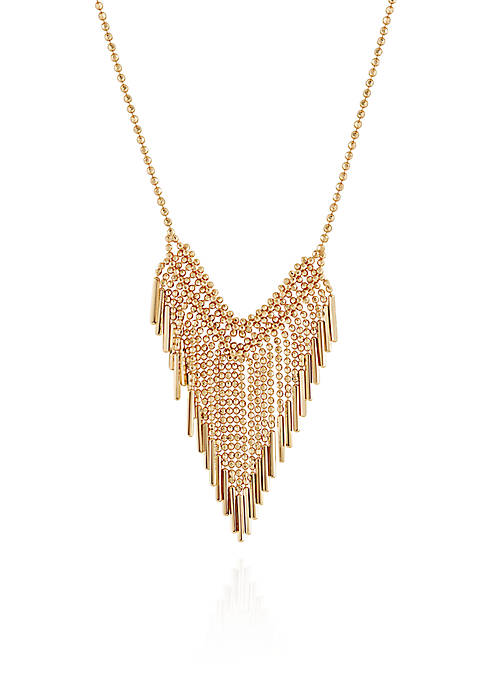 Fringe Necklace in 10k Yellow Gold