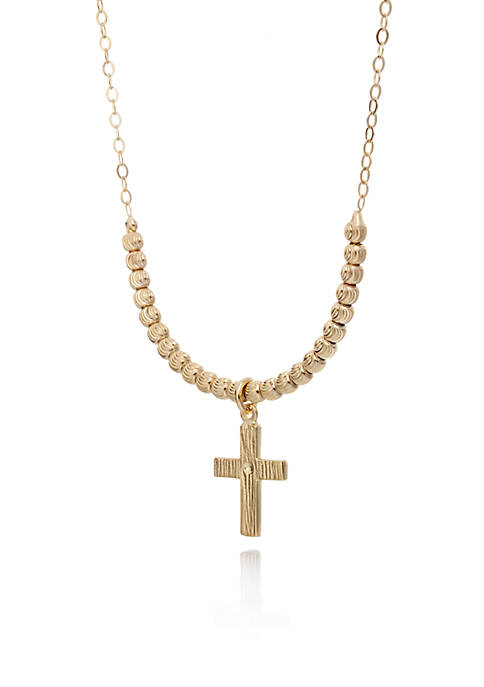 Belk & Co. 10K Yellow Gold Cross Pendant