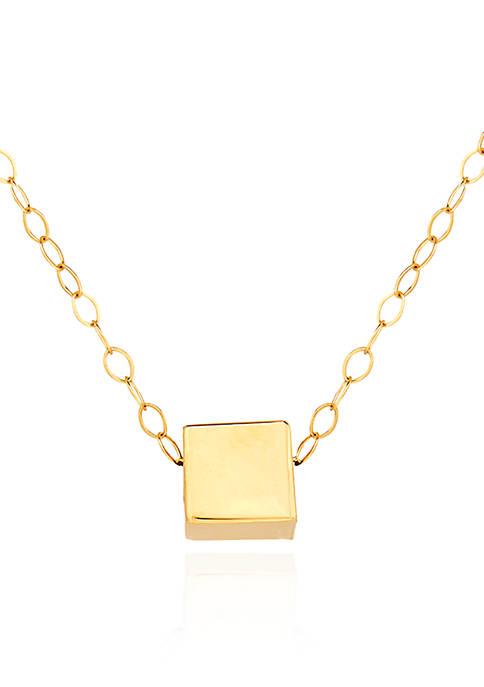 Belk & Co. 10K Yellow Gold Cube Pendant