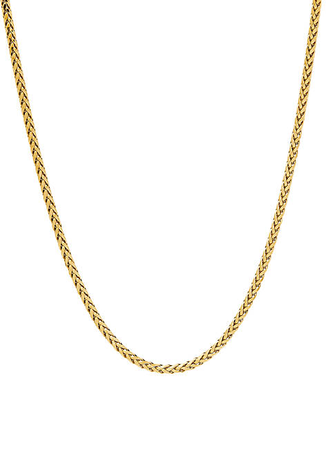 Wheat Chain Necklace in 10k Yellow Gold