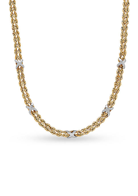Belk & Co. 10K Yellow Gold Rope Necklace