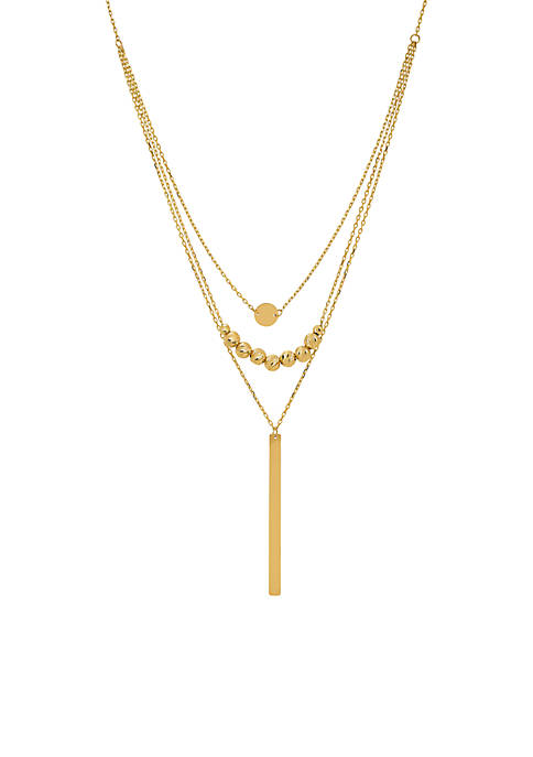 Belk & Co. Disc Bead Stick Necklace in