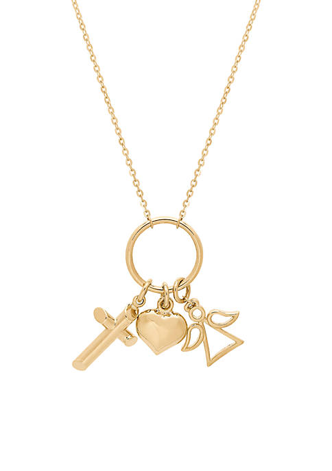 Belk & Co. Drop Open Circle Necklace in