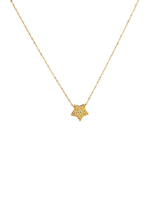 Star Pendant Necklace in 10k Yellow Gold
