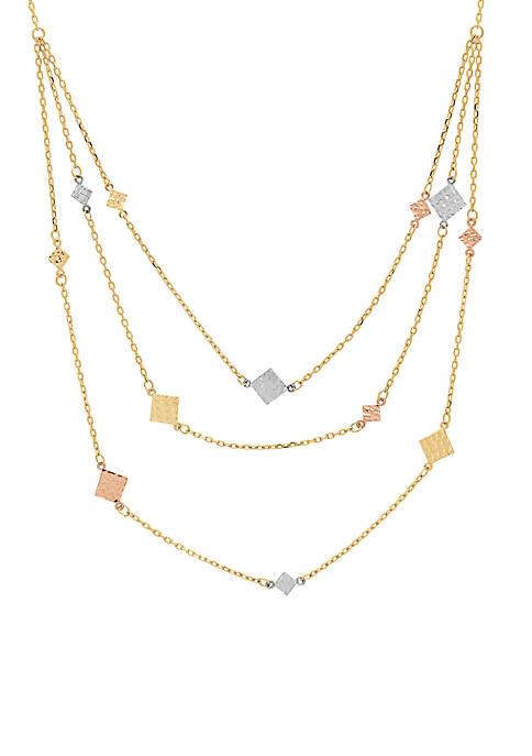 Belk & Co. Tri-Color Diamond Cut 3 Layer