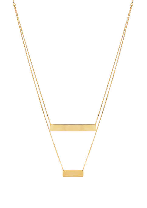 Layered Necklace in 10K Yellow Gold