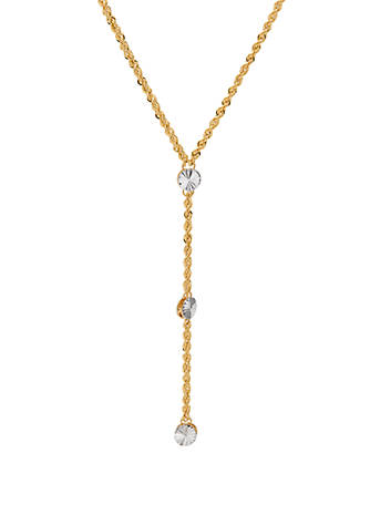 Belk & Co  Double Layer Rope Chain Necklace in 10k Yellow Gold