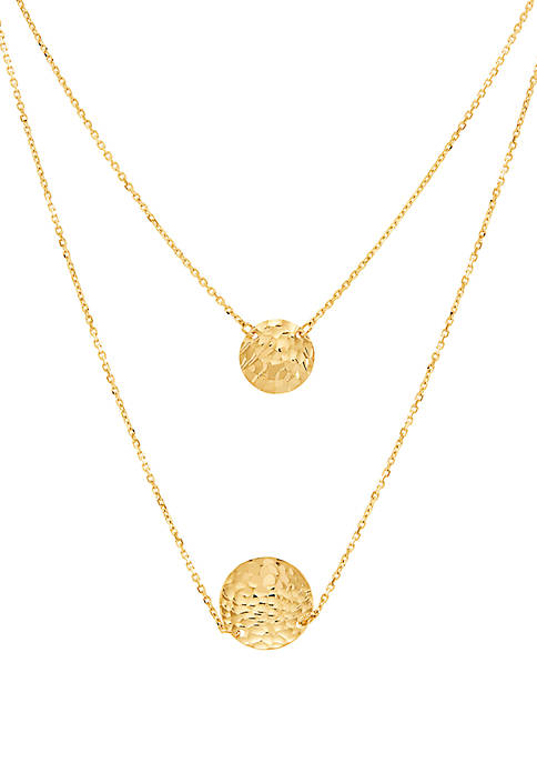 Pendant Layer Necklace in 10k Yellow Gold