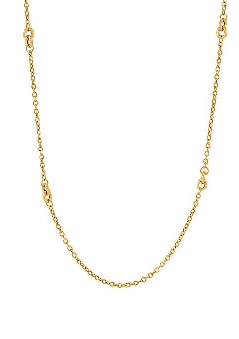Belk & Co. Chain Necklace in 10k Yellow
