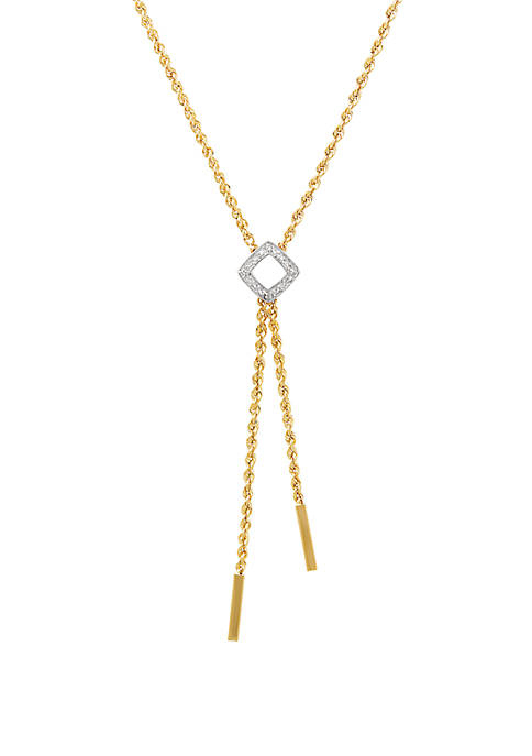 0.01 ct. t.w. Diamond Rope Chain Necklace in 10k Yellow Gold