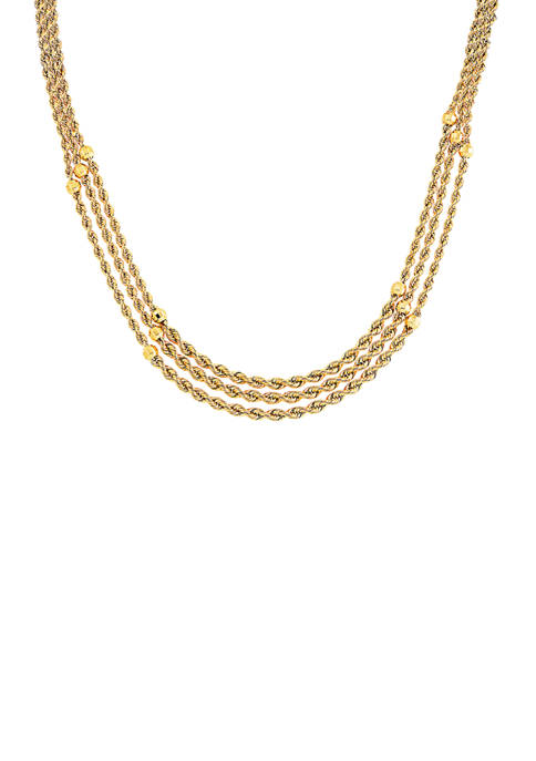 Rope Necklace in 10K Yellow Gold