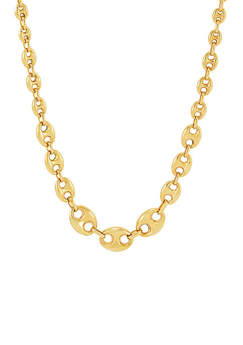 Link Necklace in 10k Yellow Gold