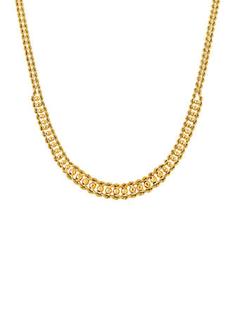 Belk & Co  Double Row Rope Chain Necklace in 10k Yellow Gold