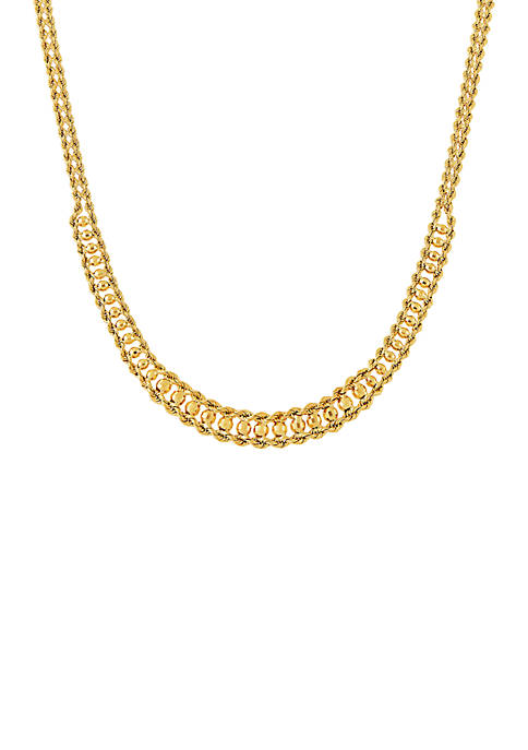 Belk & Co. Double Row Rope Chain Necklace