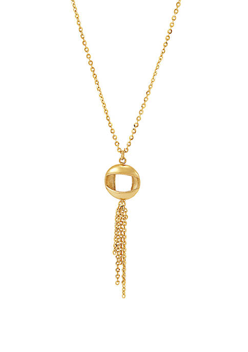 Belk & Co. Circle On Cable Chain Necklace