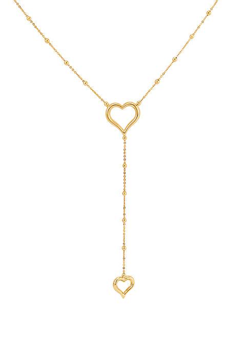 Belk & Co. Heart Chain Necklace in 10k