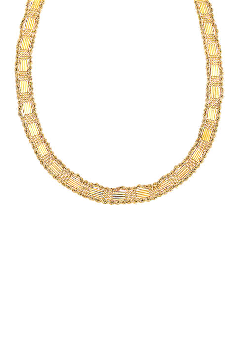 Double Rope Chain in 10K Yellow Gold