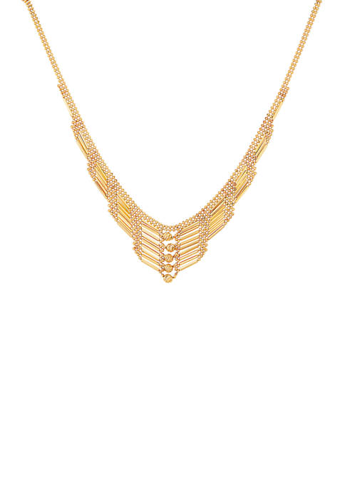 Belk & Co. Bar Chain Necklace in 10K