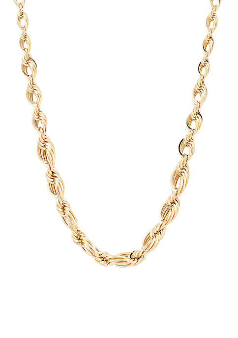 Belk & Co. Open Oval Rope Chain in