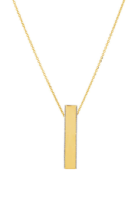 Long Necklace in 10K Yellow Gold