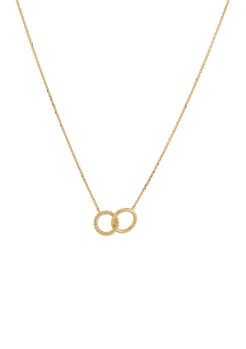 Belk & Co. 10K Yellow Gold Circle Necklace