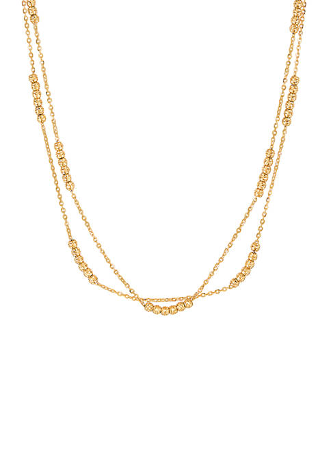 Belk & Co. Double Layer Chain Necklace in