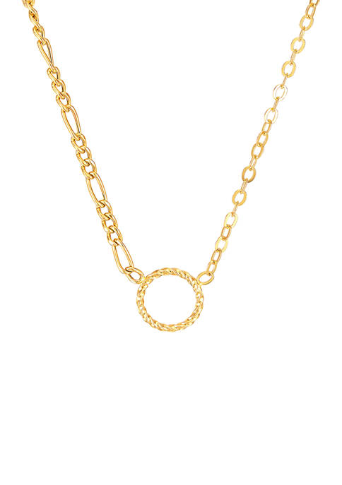 Belk & Co. Circle Necklace in 10K Yellow