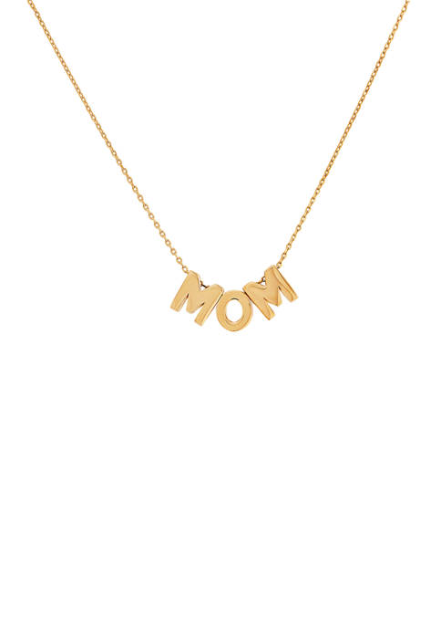 Belk & Co. Mom Cable Chain Necklace in