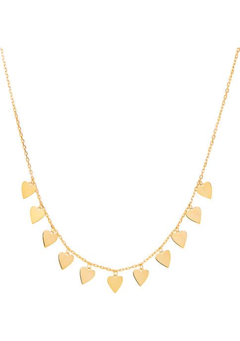 Belk & Co. Dangle Heart Drop Necklace in