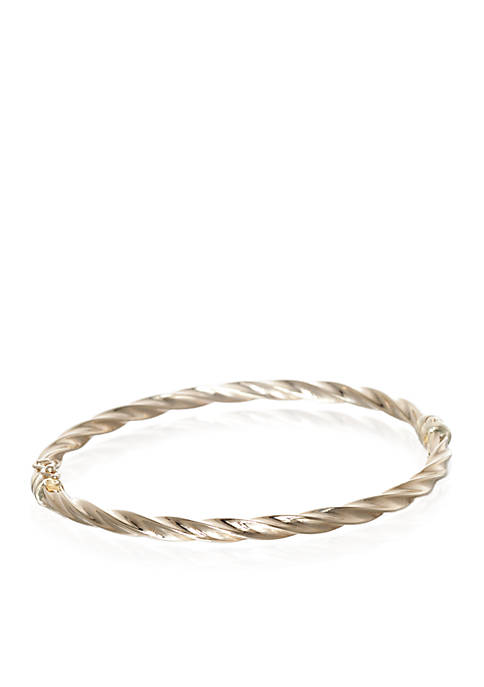 Twist Bangle in 10K Yellow Gold