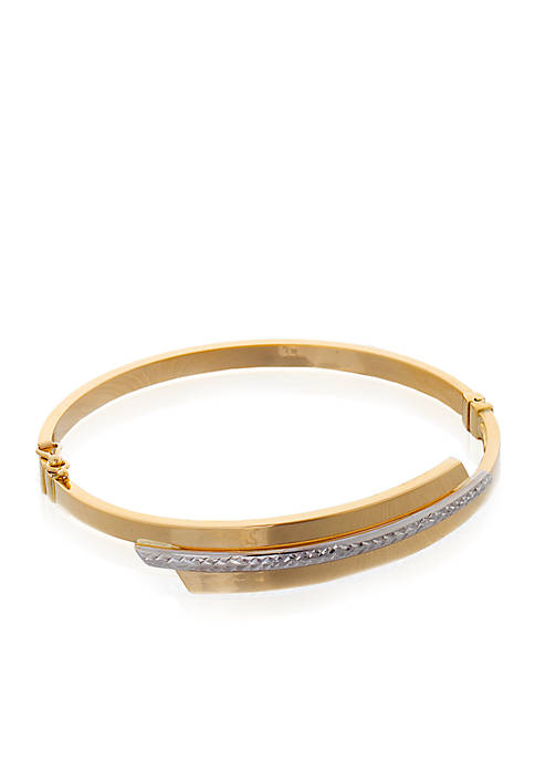 10K Yellow Gold Bypass Bracelet