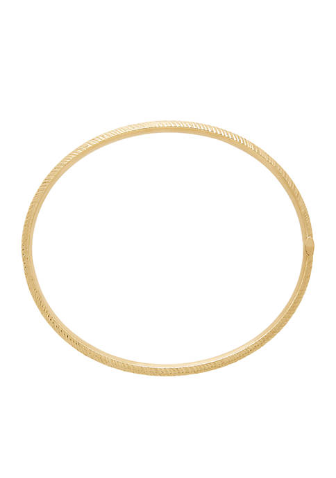 Bangle Bracelet in 10k Yellow Gold