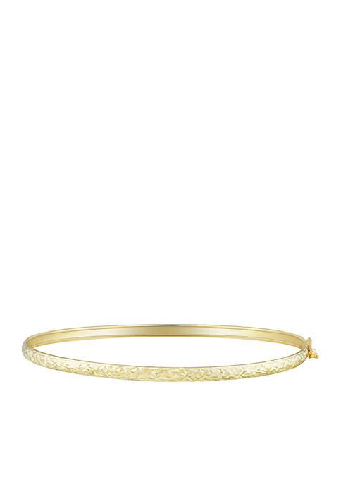 Belk & Co. Oval Flex Bangle Bracelet in