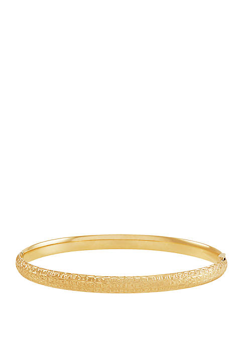 Belk & Co. Bangle Bracelet in 10k Yellow