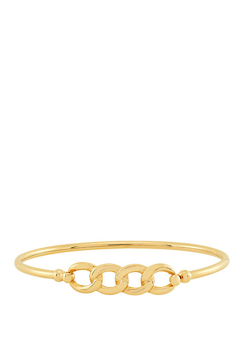 Belk & Co. Oval Link Bangle in 10k