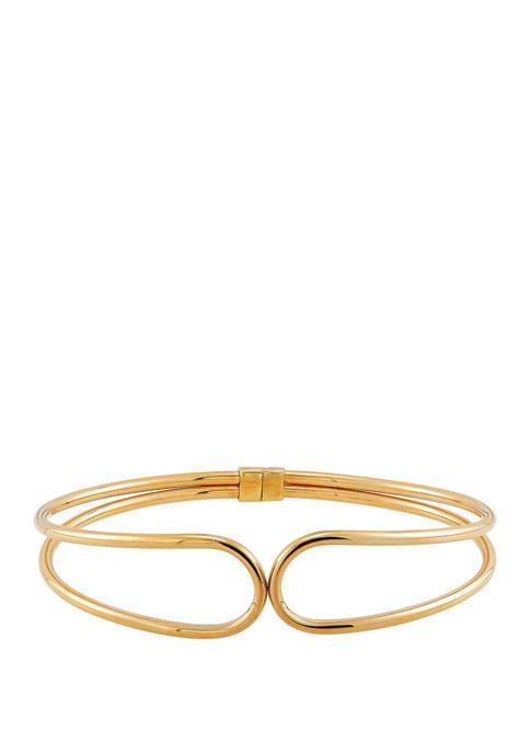 Kissing Bangle Bracelet in 10K Yellow Gold