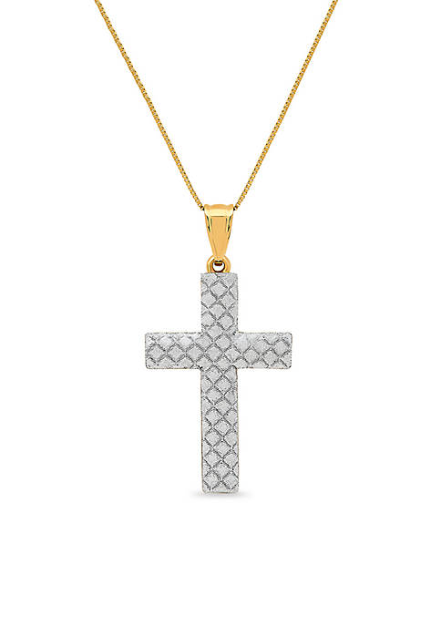 Belk & Co. 10K Yellow Gold Cross Glitter
