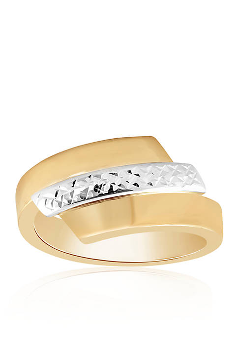 Bypass Ring in 10k Two-Tone Gold