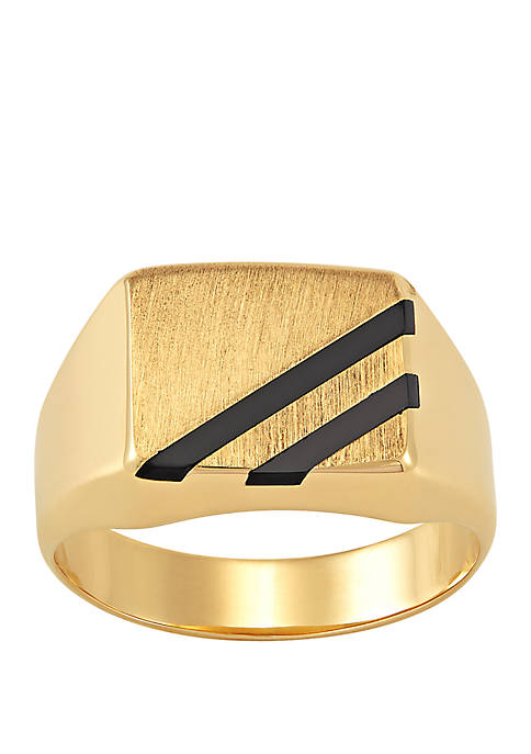 Belk & Co. Mens Square Onyx Ring in