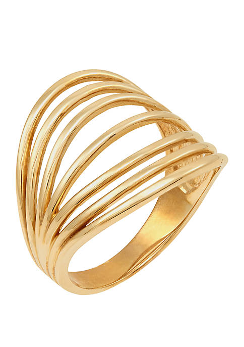 Multi Band Ring in 10k Yellow Gold