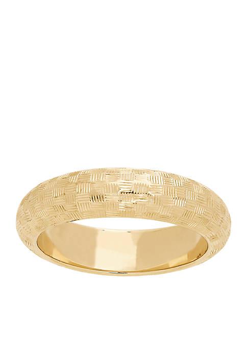 Laser Diamond Cut Ring in 10K Yellow Gold