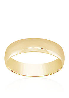 Belk & Co. Com Fit Polished Ring in 10k Yellow Gold