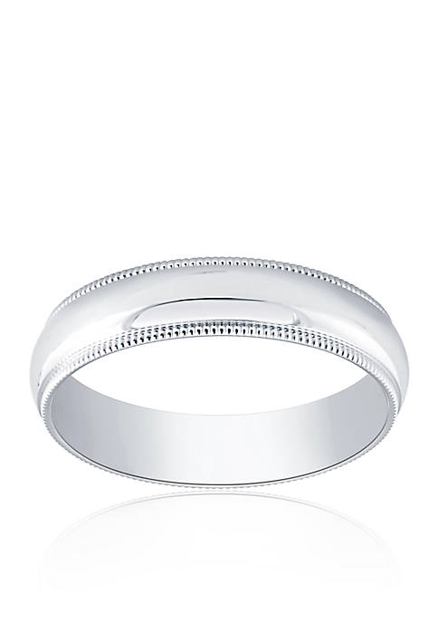 Belk & Co. Polished Milgrain Comfort Fit Ring