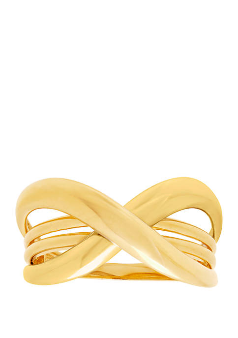 Belk & Co. Bypass Ring in 10k Yellow