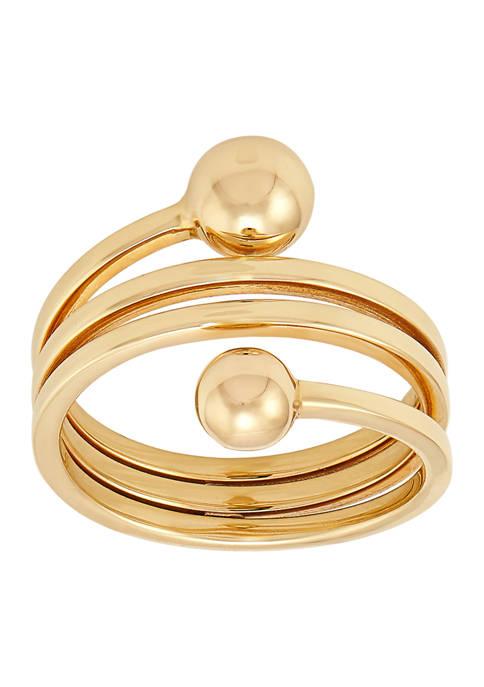 Swirl Ring In 10k Yellow Gold