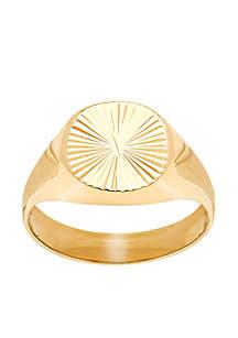 Starburst Band Ring in 10k Yellow Gold