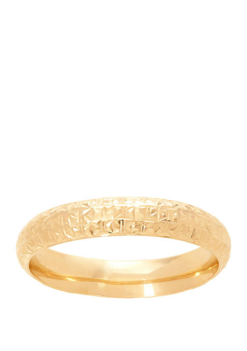 4 mm Band Ring in 10k Yellow Gold
