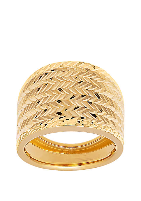 Band Ring In 10k Yellow Gold
