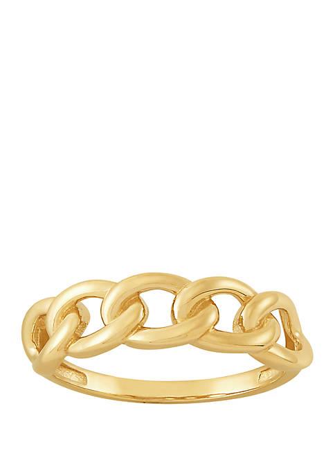 Belk & Co. Link Band Ring in 10k